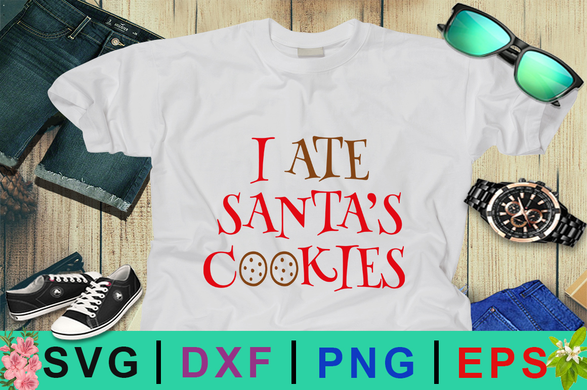 Download Free I Ate Santa S Cookies Christmas Svg Graphic By Design Palace for Cricut Explore, Silhouette and other cutting machines.