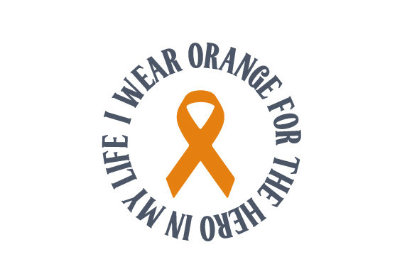 Download Free I Wear Orange For The Hero In My Life Svg Cut File By Creative for Cricut Explore, Silhouette and other cutting machines.