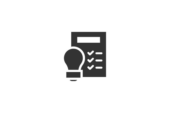 Idea And Check List Icon Graphic By Rudezstudio Creative Fabrica