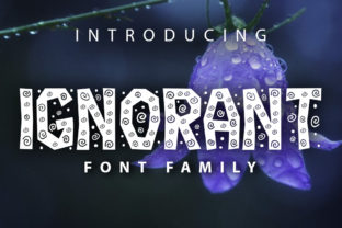 Print on Demand: Ignorant Decorative Font By vladimirnikolic
