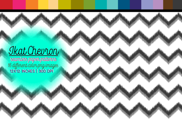 Download Free Ikat Chevron Seamless Pattern Digital Paper Graphic By for Cricut Explore, Silhouette and other cutting machines.