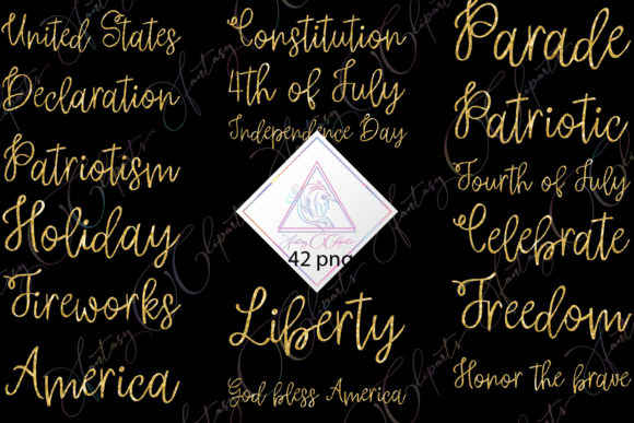Print on Demand: Independence Day Word Art Clipart Graphic Illustrations By fantasycliparts