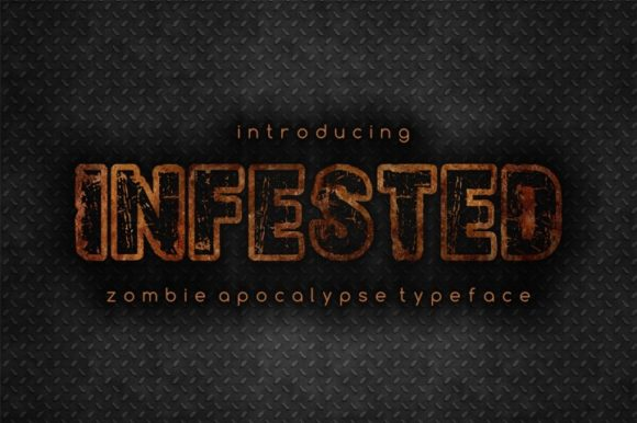 Print on Demand: Infested Display Font By bywahtung