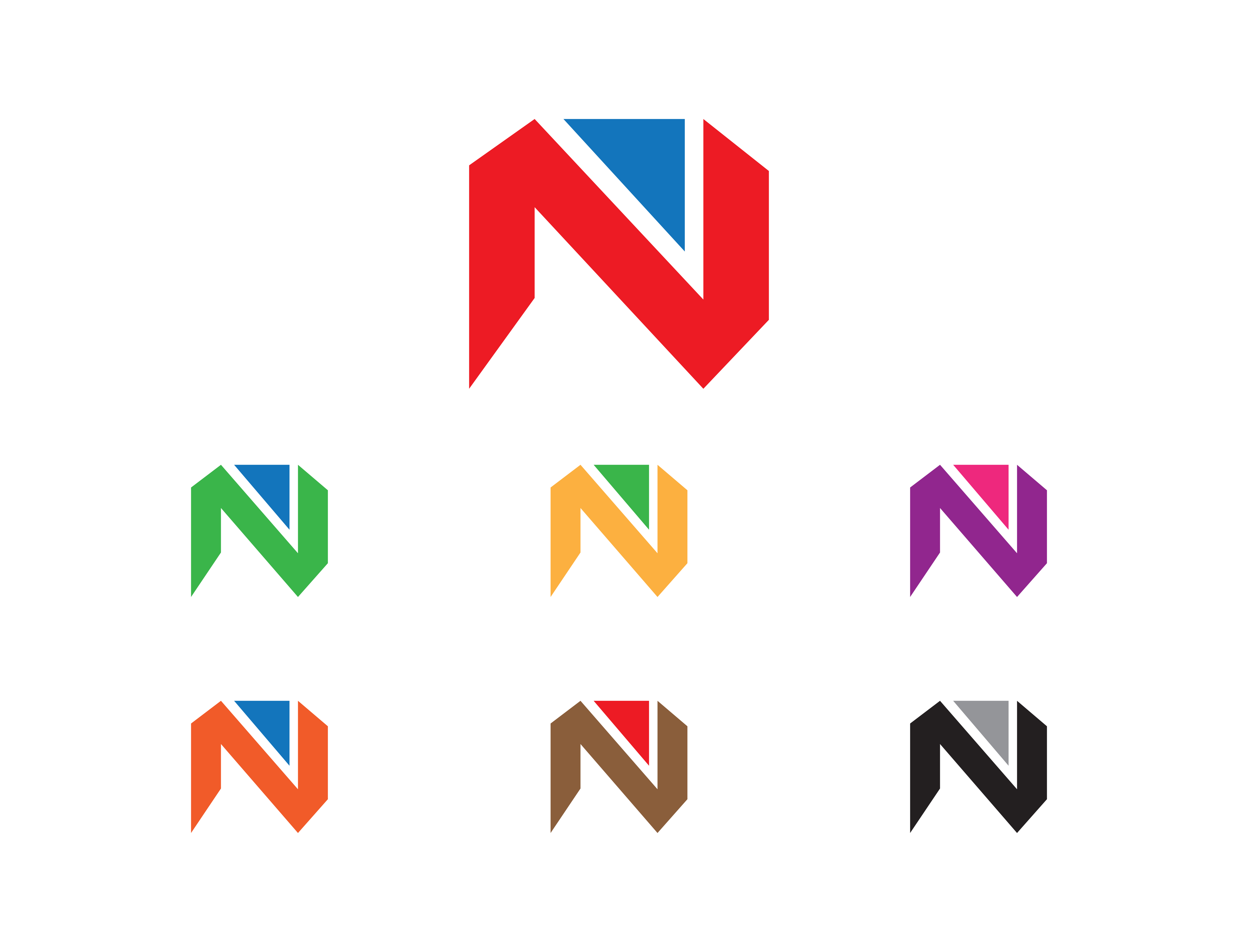 initial letter n logo template design graphic by meisuseno creative fabrica
