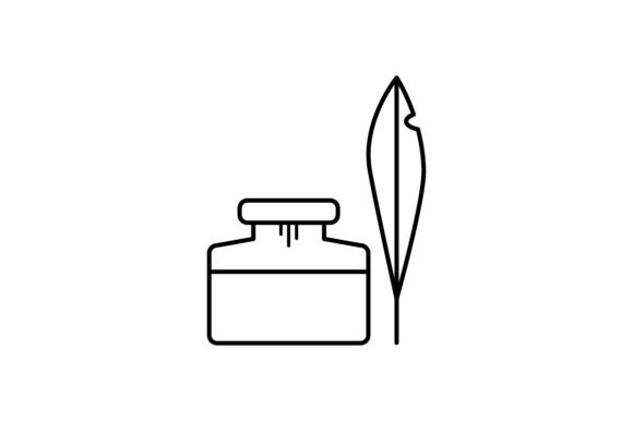 Print on Demand: Ink Pottle Graphic Icons By khld939