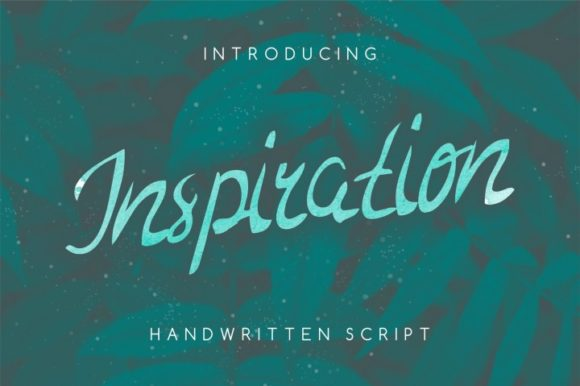Print on Demand: Inspiration Script & Handwritten Font By bywahtung