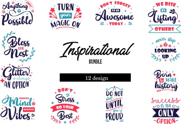 Print on Demand: Inspirational Bundle Graphic Crafts By graphicrun123