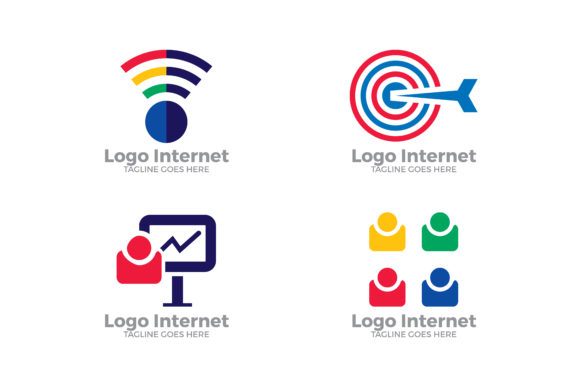 Download Free Internet Marketing Logo Set Graphic By Thehero Creative Fabrica for Cricut Explore, Silhouette and other cutting machines.