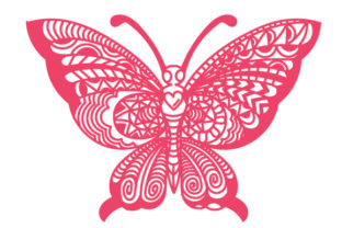 Intricate Butterfly with Its Wings Open Intricate cuts Craft Cut File By Creative Fabrica Crafts