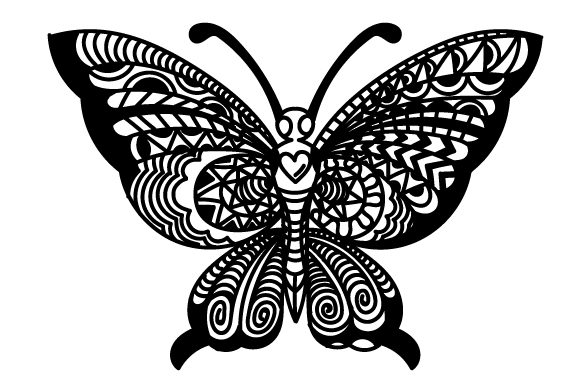 Download Free Intricate Butterfly With Its Wings Open Svg Cut File By Creative for Cricut Explore, Silhouette and other cutting machines.