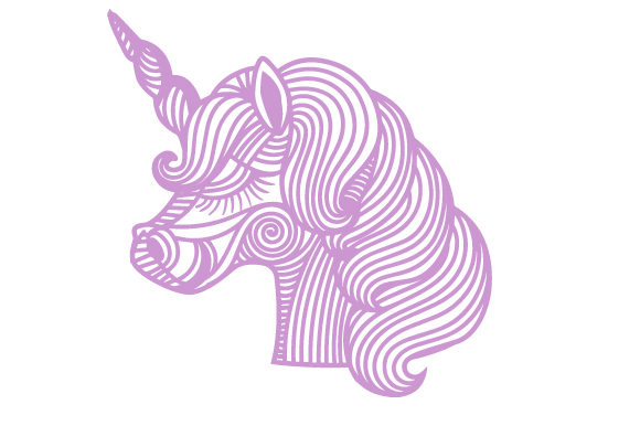 Download Free Intricate Unicorn Head Svg Cut File By Creative Fabrica Crafts for Cricut Explore, Silhouette and other cutting machines.