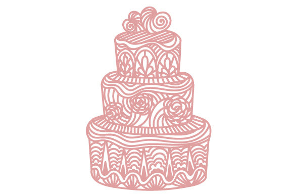Intricate Cut Wedding Cake Craft Design By Creative Fabrica Crafts Image 1