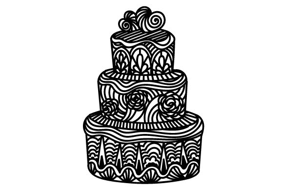 Intricate Cut Wedding Cake Craft Design By Creative Fabrica Crafts Image 2