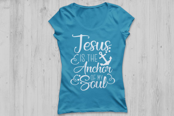 Download Free Jesus Is My Anchor Svg Grafico Por Cosmosfineart Creative Fabrica SVG Cut Files