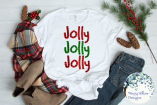 Jolly Buffalo Plaid Christmas SVG Graphic By WispyWillowDesigns