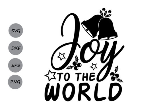 Print on Demand: Joy to the World Svg Graphic Crafts By CosmosFineArt