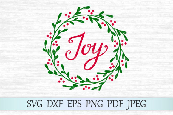 Joy Wreath Graphic Crafts By MagicArtLab