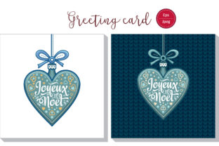 Download Free Joyeux Noel French Christmas Card Graphic By Zoyali Creative SVG Cut Files
