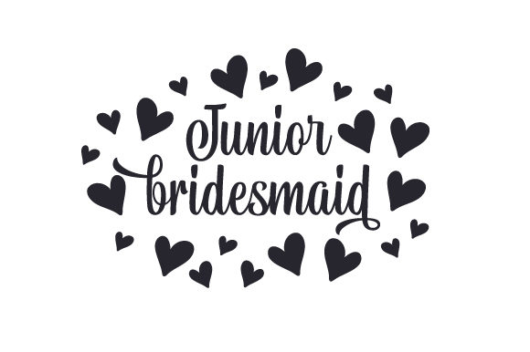 Junior Bridesmaid Wedding Craft Cut File By Creative Fabrica Crafts