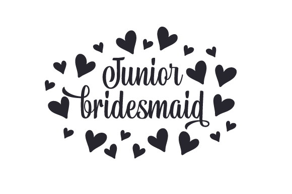 Junior Bridesmaid Svg Cut File By Creative Fabrica Crafts