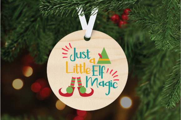 Download Free Just A Little Elf Magic Christmas Svg Cut File Graphic By for Cricut Explore, Silhouette and other cutting machines.
