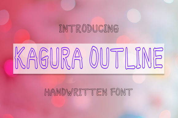 Print on Demand: Kagura Outline Display Font By Boombage