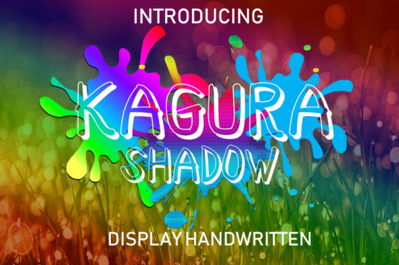 Print on Demand: Kagura Shadow Display Font By Boombage
