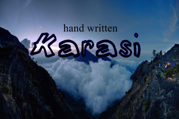 Print on Demand: Karasi Script & Handwritten Font By W INTEREST