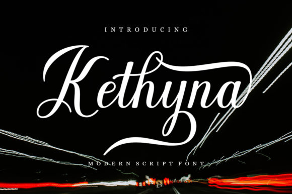 Print on Demand: Kathyna Script Script & Handwritten Font By STRAIGHT.CO