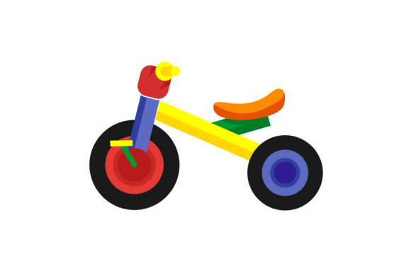 Download Free Kids Bicycle Vector Illustration Graphic By Hartgraphic for Cricut Explore, Silhouette and other cutting machines.