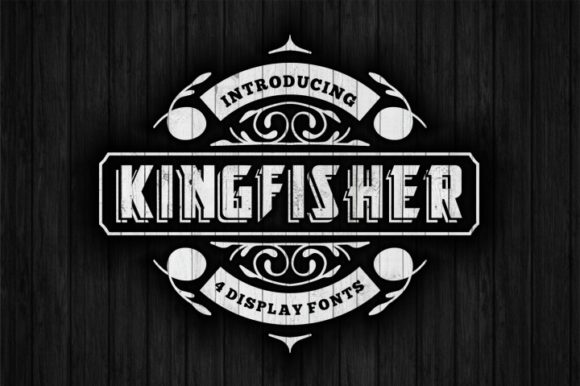 Print on Demand: King Fisher Family Display Font By bywahtung
