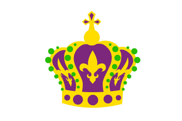 King Crown in Festival Colors Mardi Gras Craft Cut File By Creative Fabrica Crafts
