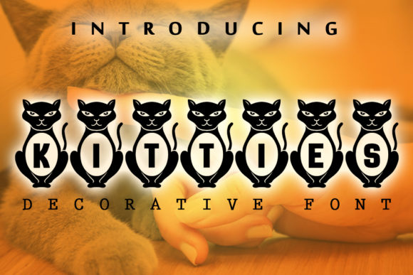 Print on Demand: Kitties Decorative Font By vladimirnikolic