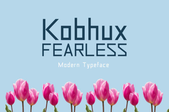 Print on Demand: Kobhux Fearless Display Font By Shattered Notion