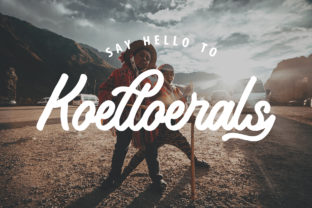 Koeltoerals Font By stefiejustprince