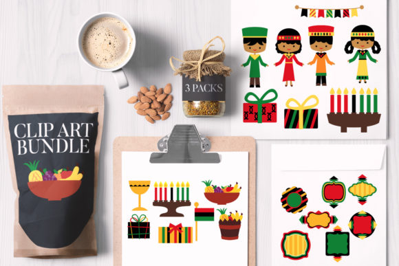 Print on Demand: Kwanzaa Bundle Graphic Illustrations By Revidevi
