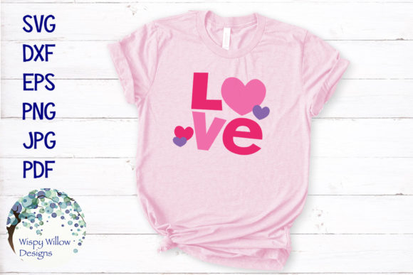 Download Free Love Valentine Graphic By Wispywillowdesigns Creative Fabrica for Cricut Explore, Silhouette and other cutting machines.