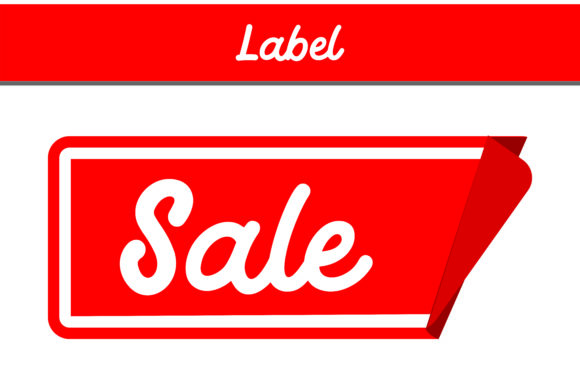 Print on Demand: Label Sale Graphic Backgrounds By Arief Sapta Adjie