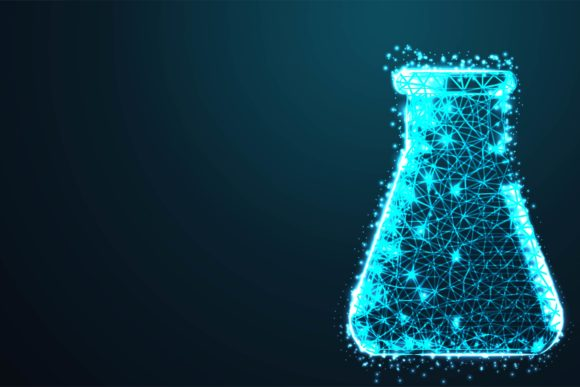 Print on Demand: Laboratory Flask Background Graphic Backgrounds By ojosujono96 - Image 1