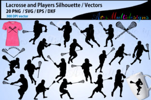 Print on Demand: Lacrosse Silhouettes Graphic Illustrations By Arcs Multidesigns