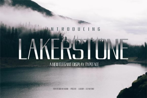 Print on Demand: Lakestone Display Font By victoriant99