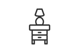 Download Free Lamp And Desk Icon Grafico Por Rudezstudio Creative Fabrica for Cricut Explore, Silhouette and other cutting machines.