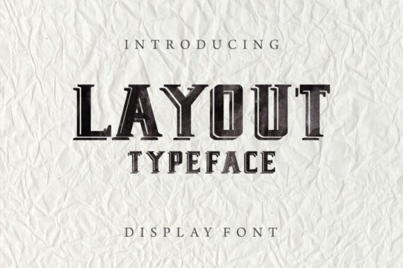 Print on Demand: Layout Display Font By bywahtung