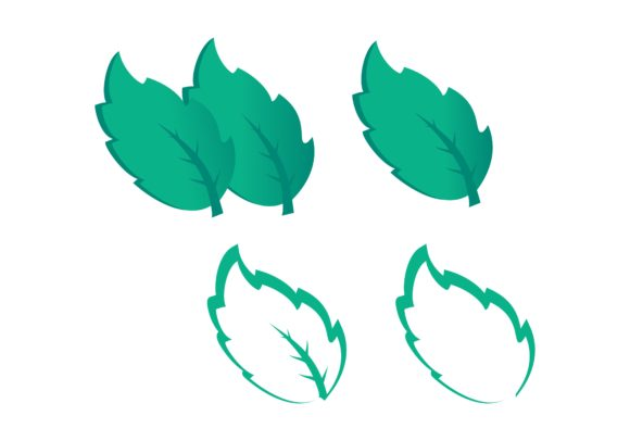 Download Free Leaf Mint Logo Graphic By Deemka Studio Creative Fabrica for Cricut Explore, Silhouette and other cutting machines.