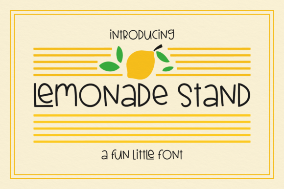 Print on Demand: Lemonade Stand Script & Handwritten Font By Emylia Design