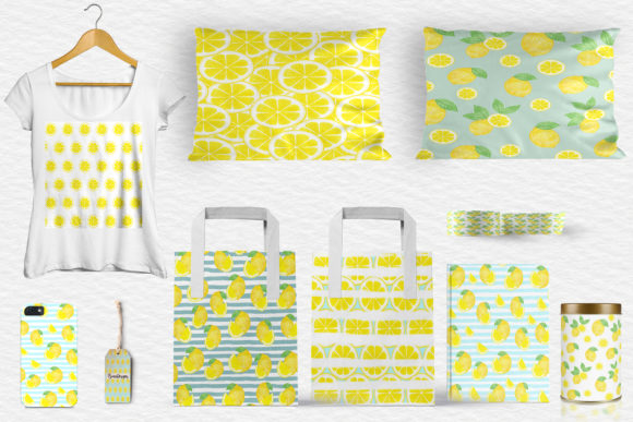 Download Free Lemons Digital Paper Lemons Background Lemon Pattern Graphic for Cricut Explore, Silhouette and other cutting machines.