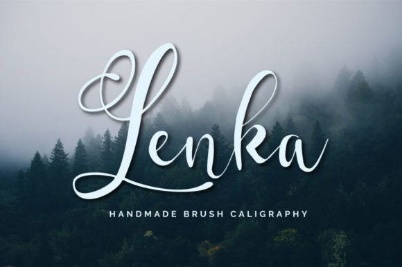 Print on Demand: Lenka Script & Handwritten Font By Digital Hustler
