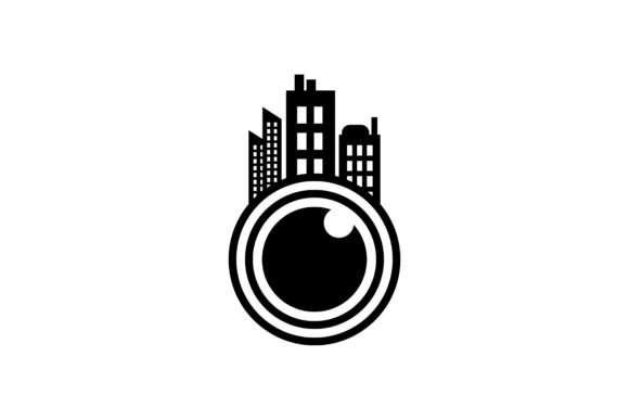 Download Free Lens Camera And Town Logo Graphic By Yahyaanasatokillah for Cricut Explore, Silhouette and other cutting machines.
