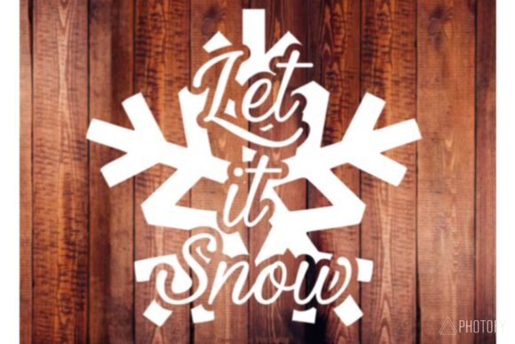 Download Free Let It Snow Graphic By Britt S Hits Creative Fabrica for Cricut Explore, Silhouette and other cutting machines.