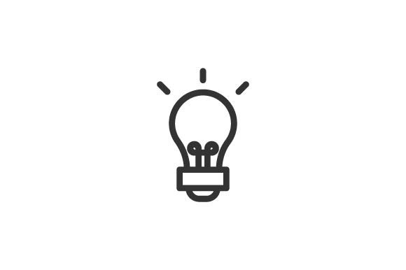 Download Free Light Bulb Icon Graphic By Rudezstudio Creative Fabrica for Cricut Explore, Silhouette and other cutting machines.